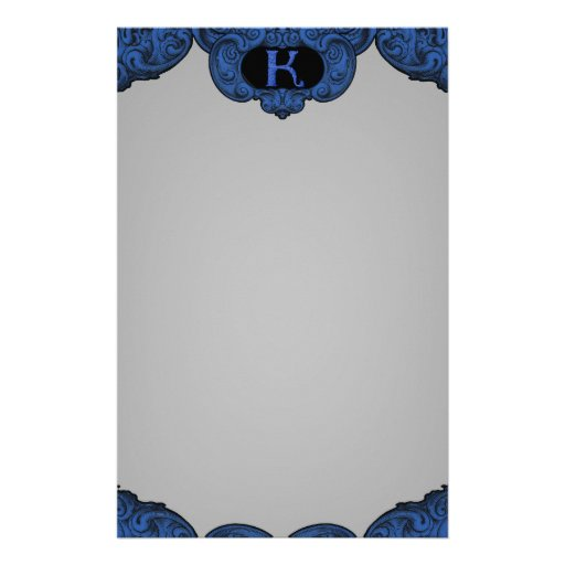 K - The Falck Alphabet (Blue) Stationery Paper