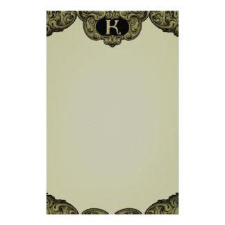 K - The Falck Alphabet (Golden Customised Stationery