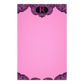 K - The Falck Alphabet (Pink) Personalised Stationery