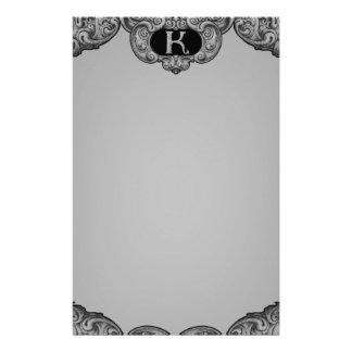 K - The Falck Alphabet (Silvery) Personalised Stationery
