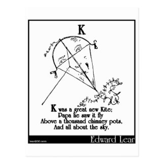K was a great new Kite Postcard