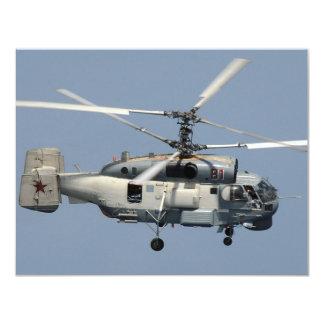 KA-27 Helix 11 Cm X 14 Cm Invitation Card