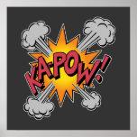 KA-POW! Comic Book Graphic Poster