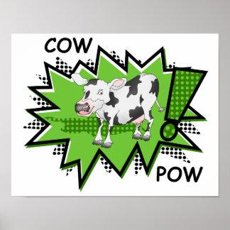 Ka-pow Cow Posters