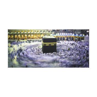 Ka'bah at night gallery wrap canvas