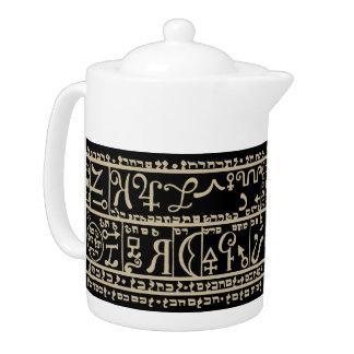 Kabbalah - Unique Teapots - Moses Biblia