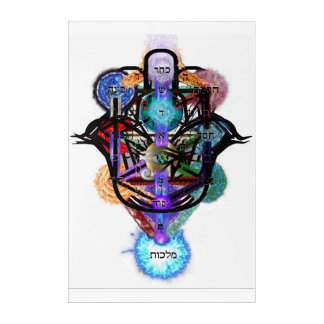 Kabbalistic Tree of Life Remix Acrylic Wall Art