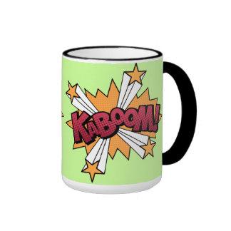 Kaboom! cartoon effect ringer mug