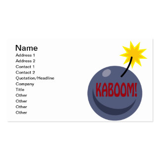Kaboom Pack Of Standard Business Cards