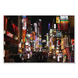Kabukichō Tokyo Neons by Night, Japan Photo Print