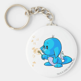 Kacheek Blue Basic Round Button Key Ring