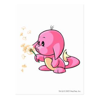 Kacheek Pink Postcard