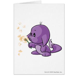 Kacheek Purple Greeting Card