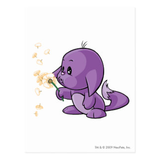 Kacheek Purple Postcard