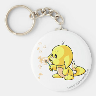 Kacheek Yellow Basic Round Button Key Ring