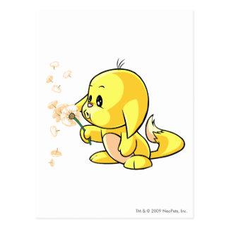 Kacheek Yellow Postcard