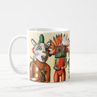 Kachina dolls of the Hopi Native American Tribe Basic White Mug
