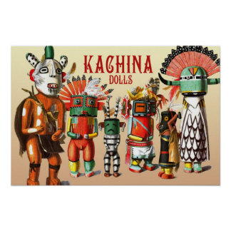 Kachina dolls of the Hopi Native American Tribe Poster