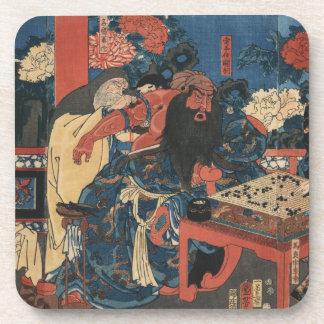 Kada hone o kezurite kan'u yakizu o ryōji suru zu beverage coaster