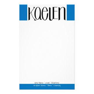 Kaelen black Stationery