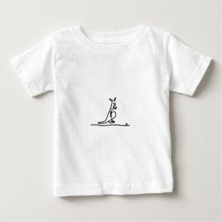 Kaenguruh with baby in the bag in Australia T-shirt