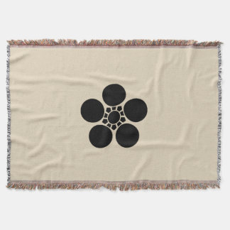 Kaga plum bowl A Throw Blanket