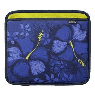 Kahala Hibiscus Hawaiian Lava Rock Illustration iPad Sleeve