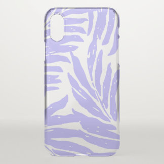Kahanu Garden Hawaiian Palm Leaves Lilac iPhone X Case