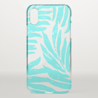 Kahanu Garden Hawaiian Palm Leaves Turq iPhone X Case