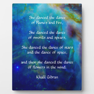 Kahlil Gibran Dance of stars Plaque