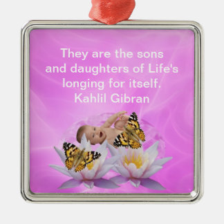 Kahlil Gibran On children and babies Christmas Tree Ornaments