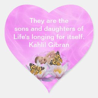 Kahlil Gibran On children and babies Stickers