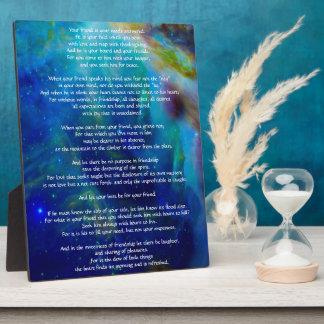 Kahlil Gibran on Friendship Plaque