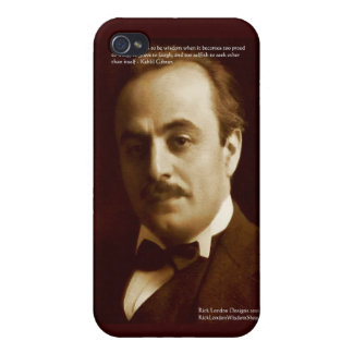 """Kahlil Gibran """"Wisdom Proud"""" Quote Gifts & Cards iPhone 4 Cases"""