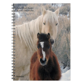 Kahlua and Avocet from Sand Wash Basin Spiral Notebook