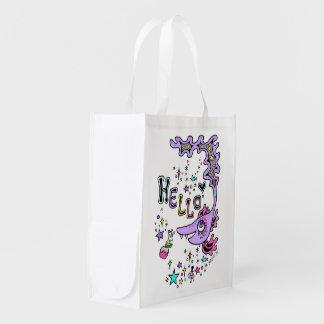 kaijiyuu hello korabo of fish* reusable grocery bag