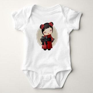 Kaiko the kokeshi doll baby bodysuit