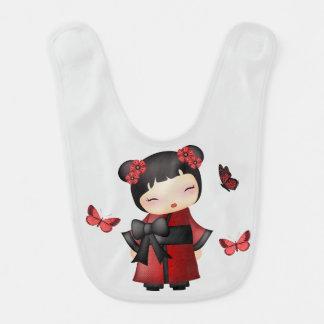 Kaiko the kokeshi doll bib