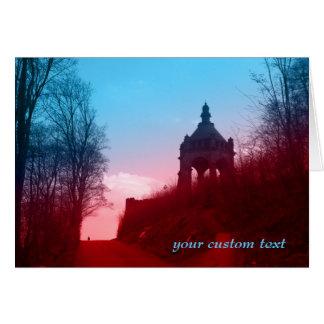 kaiser wilhelm I monument in porta westfalica Card
