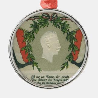 Kaiser Wilhelm II Silver-Colored Round Decoration