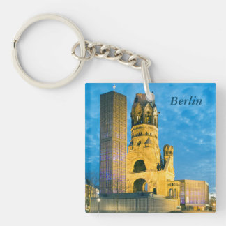 Kaiser Wilhelm Memorial Church, Berlin Single-Sided Square Acrylic Key Ring