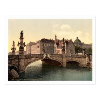 Kaiser Wilhelms Bridge, Berlin, Germany Postcard