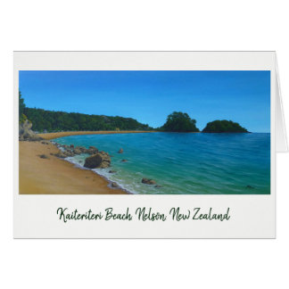 Kaiteriteri Beach, Nelson New Zealand Painting Card