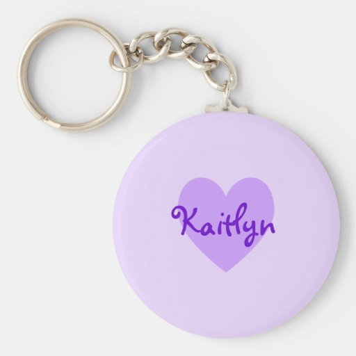 Kaitlyn in Purple Keychain