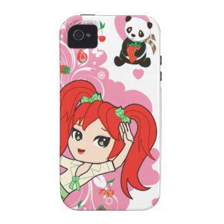 Kaiwaii Coco the School Girl Chibi iPhone4 iPhone 4 Cases
