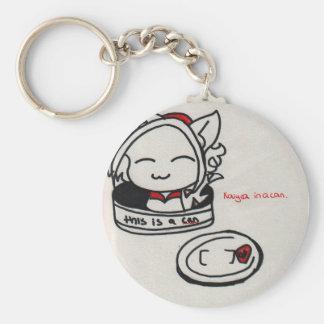 Kaiya in a can basic round button key ring
