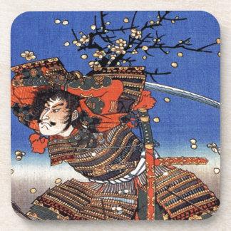 Kajiwara Genda Kagesue for Umegae Utagawa Kuniyosh Drink Coasters