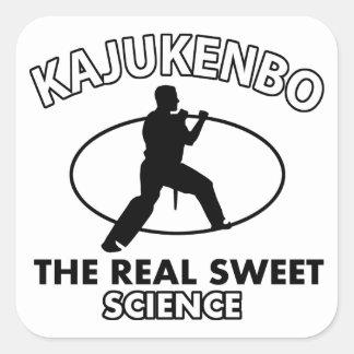 Kajukenbo Martial Arts Designs Square Sticker
