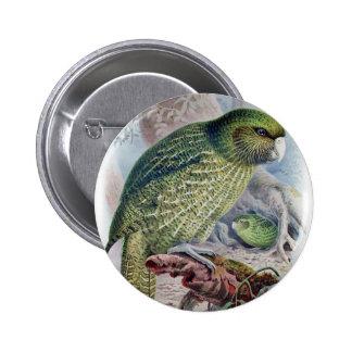 Kakapo 6 Cm Round Badge