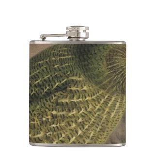 Kakapo Semi-Abstract Flask